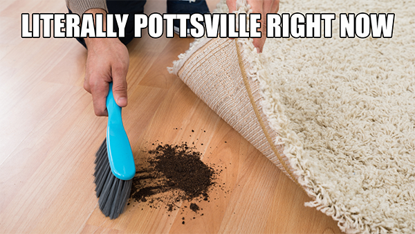 "Pottsville Sweeping ""Hazing"" Under the Rug"
