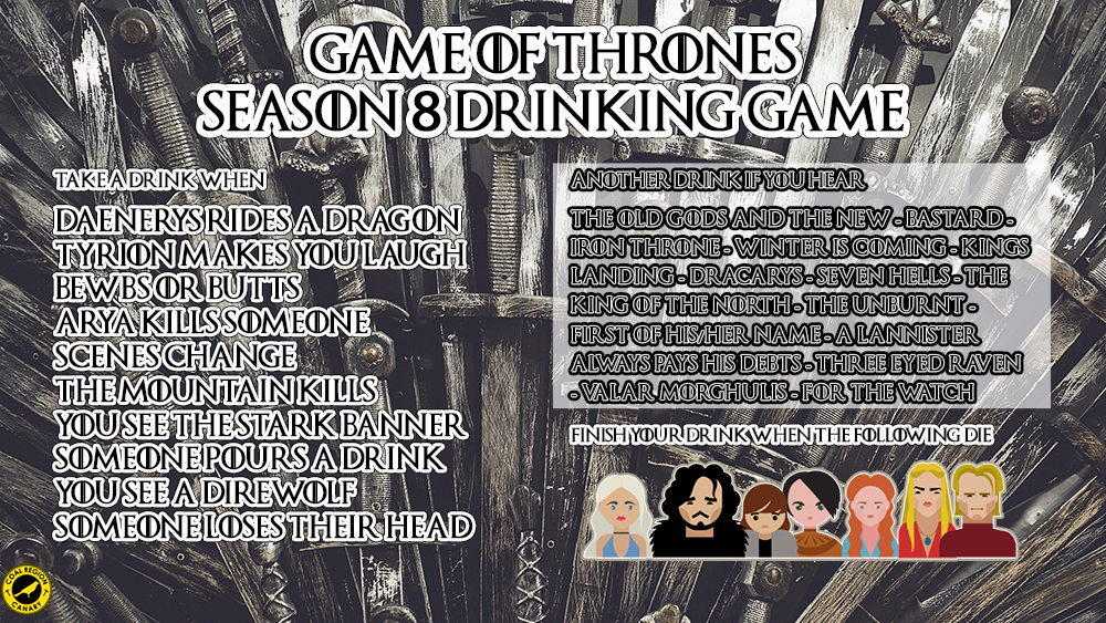 game of thrones drinking games
