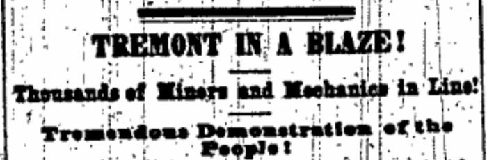 """""""Tremont in a Blaze"""" During Wide Awake Campaign for Lincoln in 1860"""