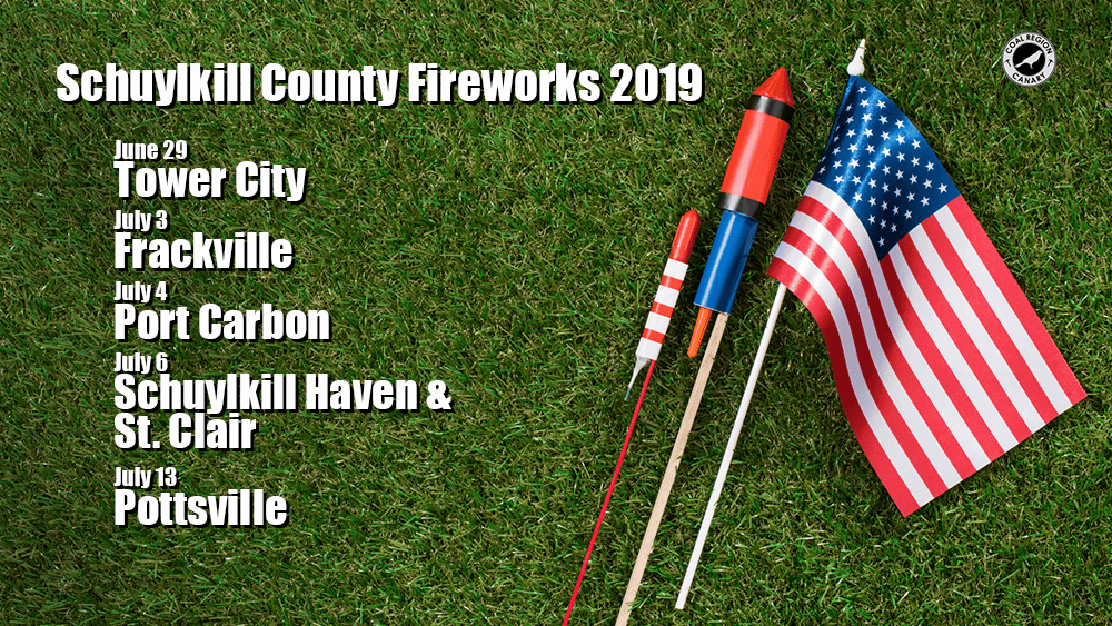 Celebrate the 4th of July! Schuylkill County Fireworks in 2019