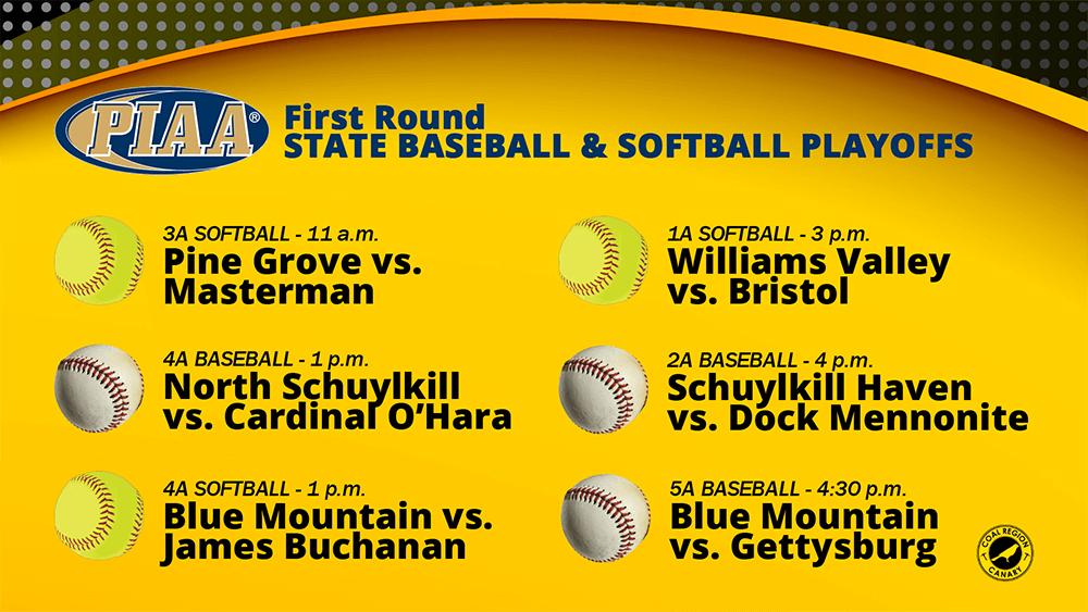 piaa first round softball baseball 2019