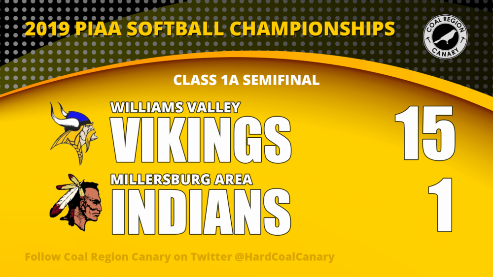williams valley softball vs millersburg