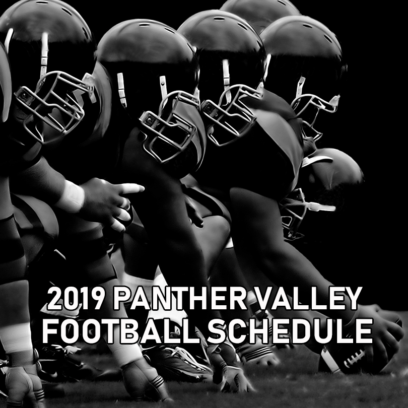 2019 Panther Valley Panthers Football Schedule