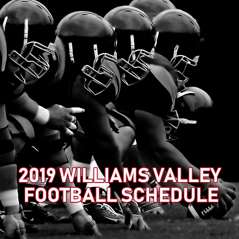 2019 Williams Valley Vikings Football Schedule