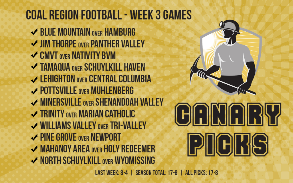 We've Got a Good Feeling About Our Week 3 Coal Region Football Picks