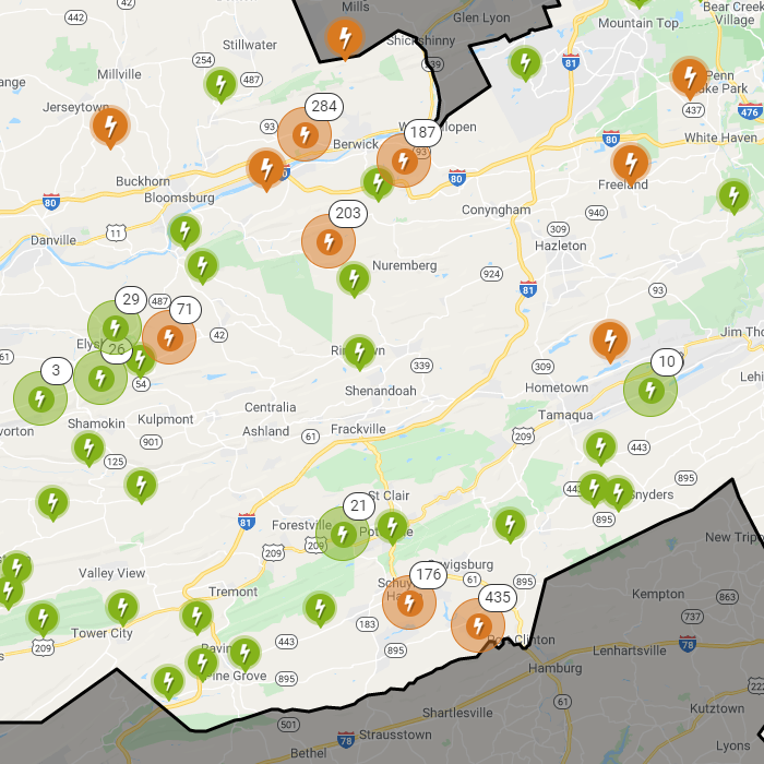HALLOWEEN STORM: More Than 1,000 Without Power in Schuylkill County