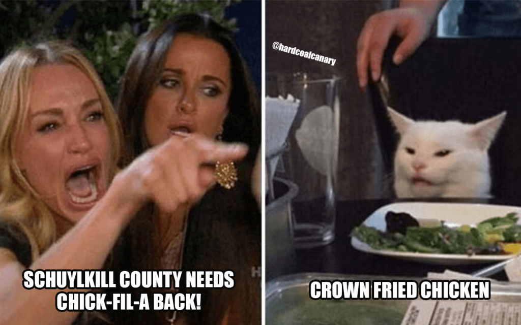 Schuylkill County Table Cat Meme – So Hot Right Now