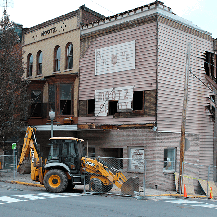 Mootz Candies in Downtown Pottsville Faces Wrecking Ball