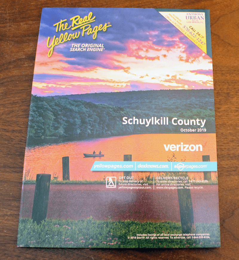 new phone book schuylkill county