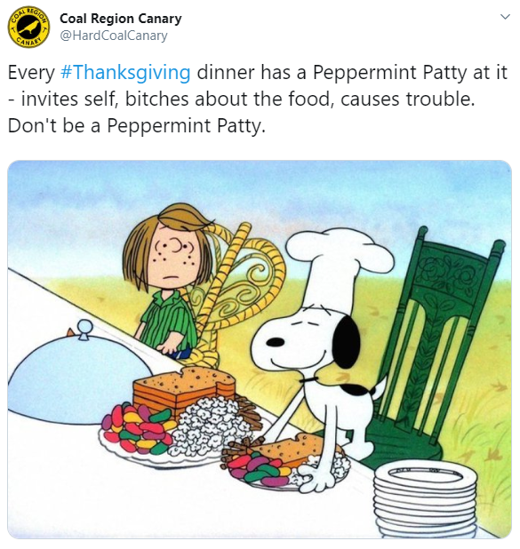 There's a War on Thanksgiving, Charlie Brown