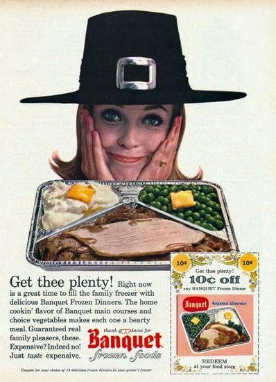 vintage thanksgiving ads banquet foods