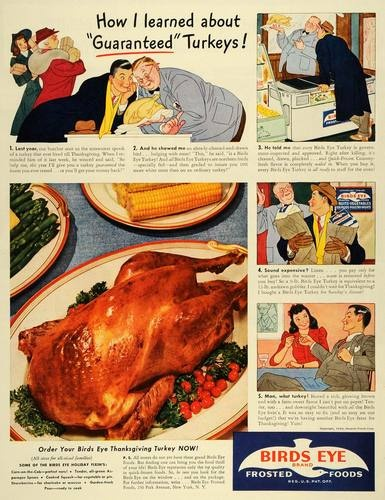 vintage thanksgiving ads birds eye
