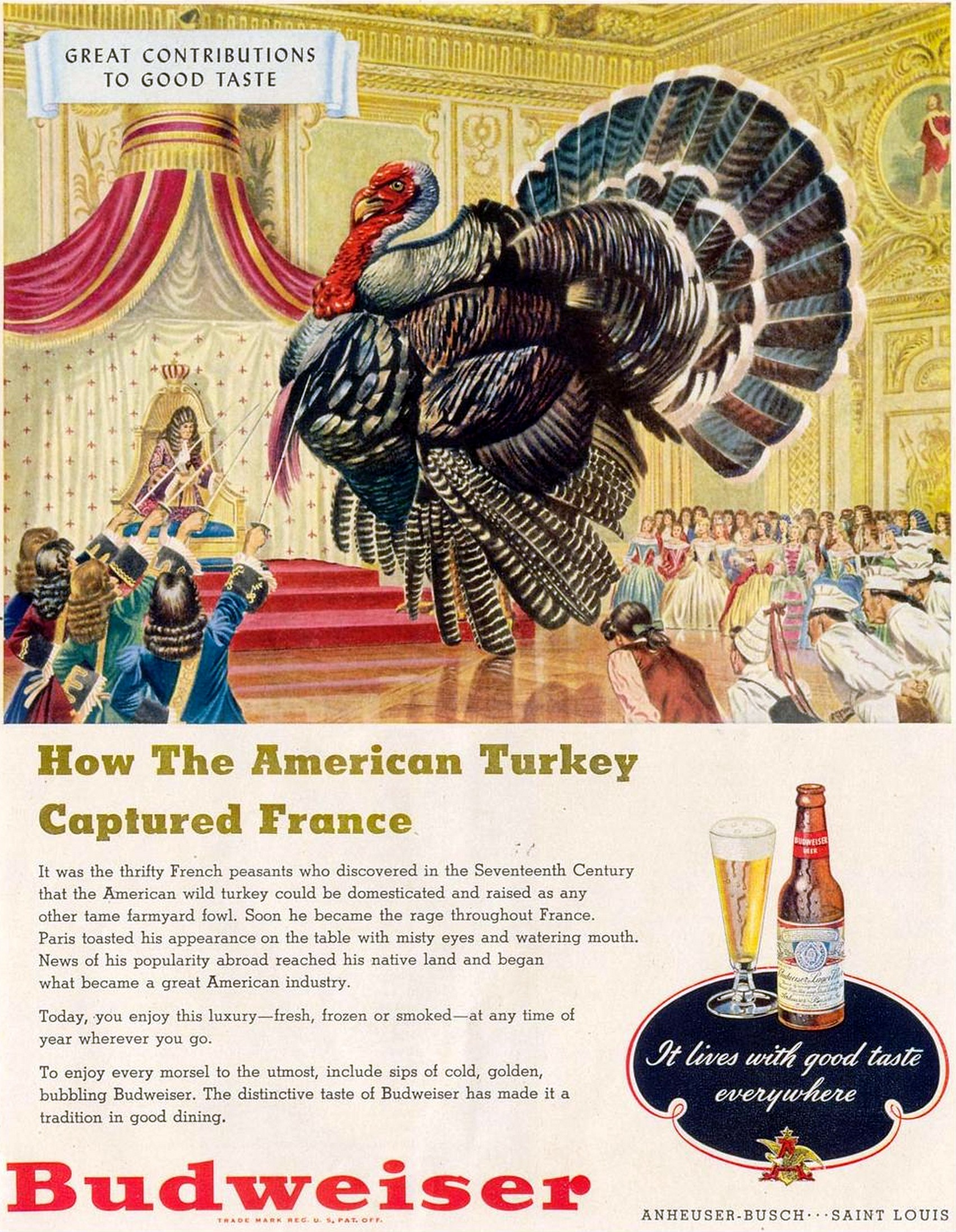 vintage thanksgiving ads budweiser