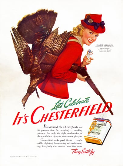 vintage thanksgiving ads chesterfield cigarettes