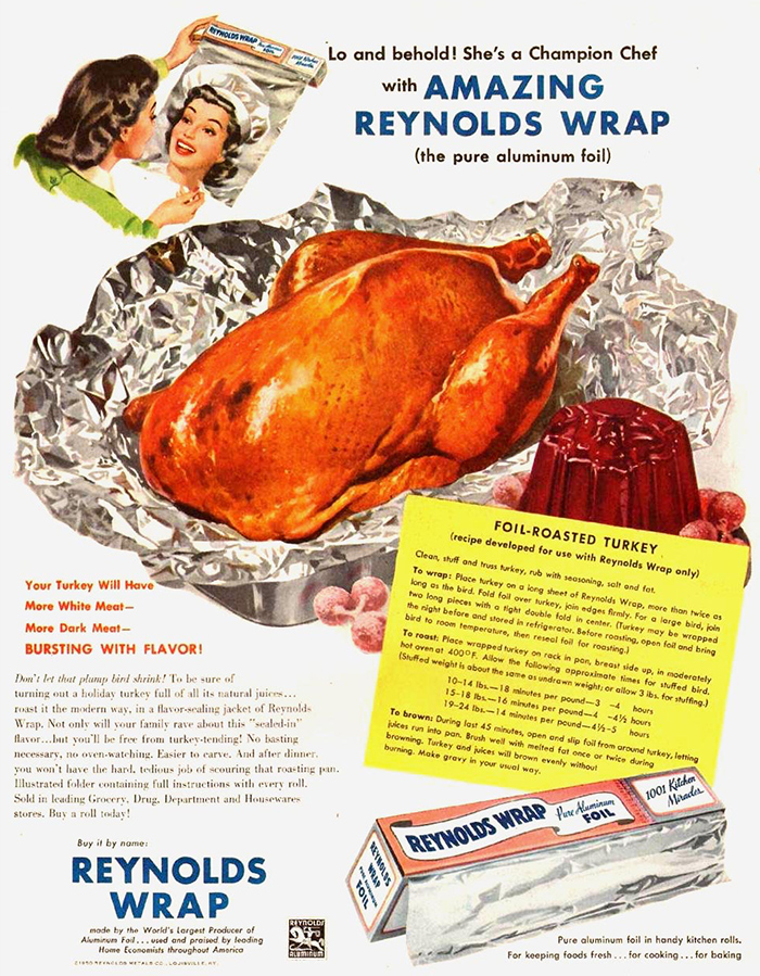 vintage thanksgiving ads reynolds wrap
