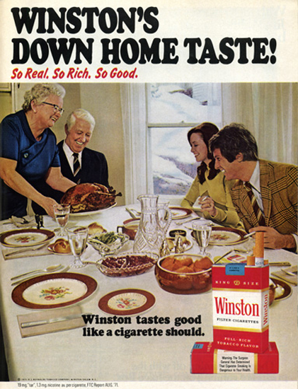 vintage thanksgiving ads winston cigarettes