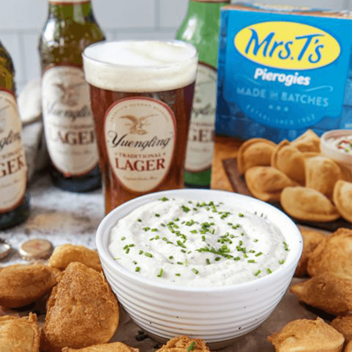 Yuengling and Mrs. T's Pierogies Collab on Party Appetizer