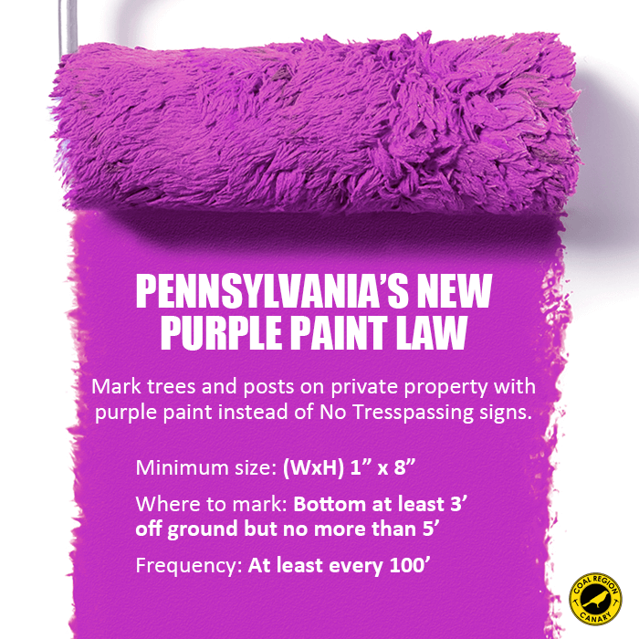 Pennsylvania Passes Purple Paint Property Law