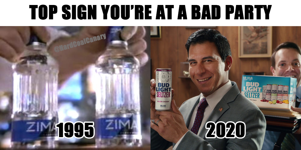 bud light seltzer zima meme