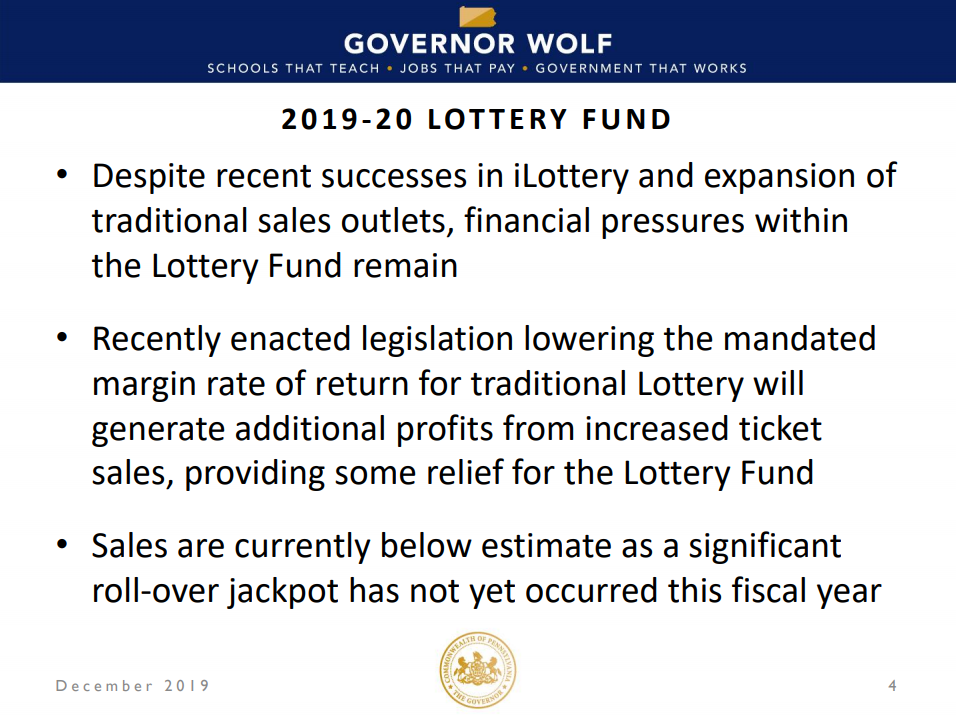 pennsylvania lottery fund shortages