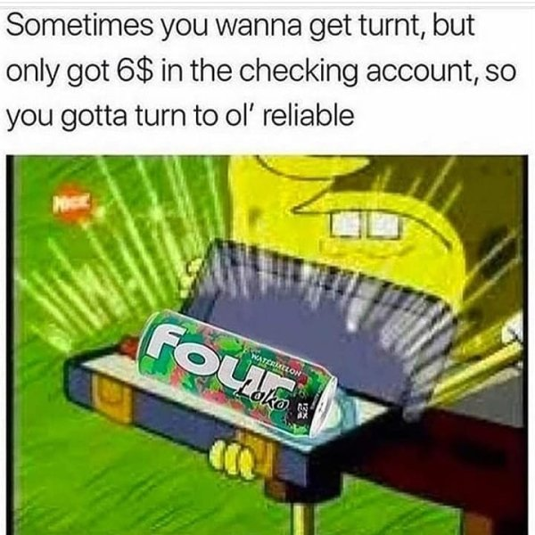 spongebob four loko