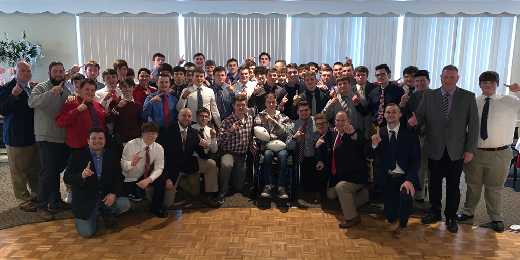 Recovering North Schuylkill Football Player Jaden Leiby Joins Team for Year-end Banquet
