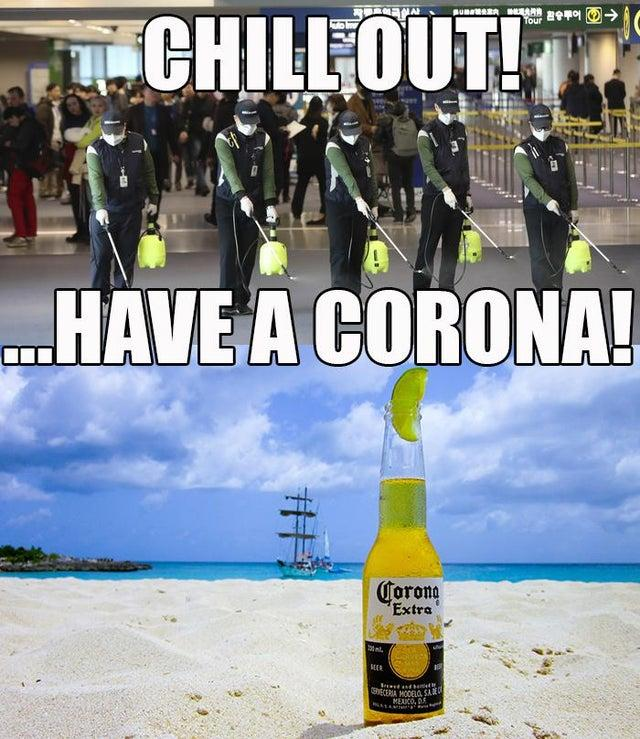 coronavirus chill out meme