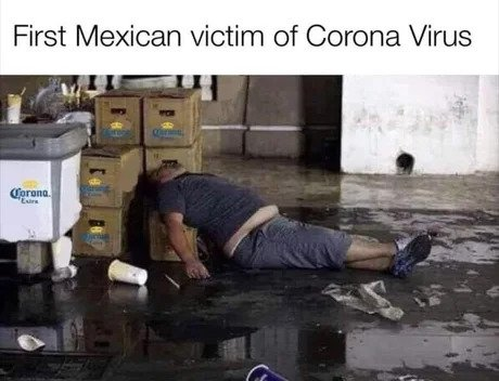 coronavirus passed out mexico meme