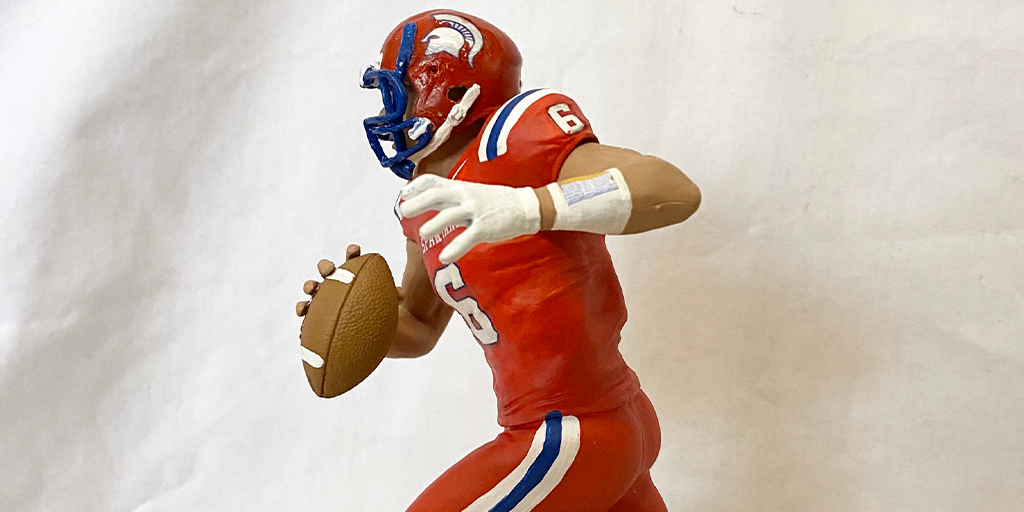 Someone Custom Painted a McFarlane Sports Figure to Look Like North Schuylkill's Jaden Leiby