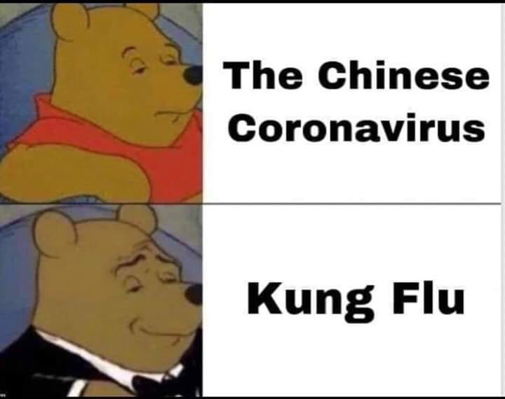 Coronavirus vs. Kung Flu – We're in This Together