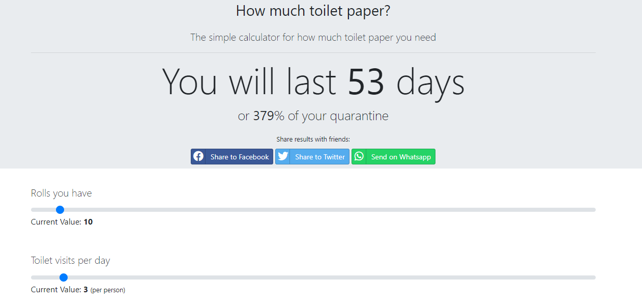 how much toilet paper 1