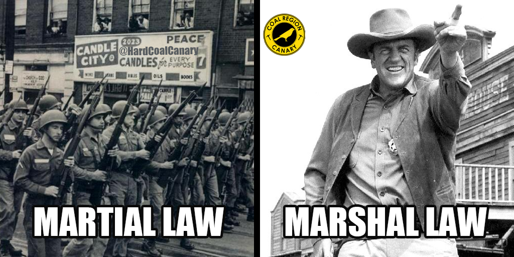 marshal law martial law