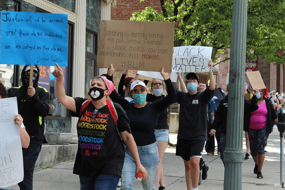 downtown pottsville protest george floyd BLM