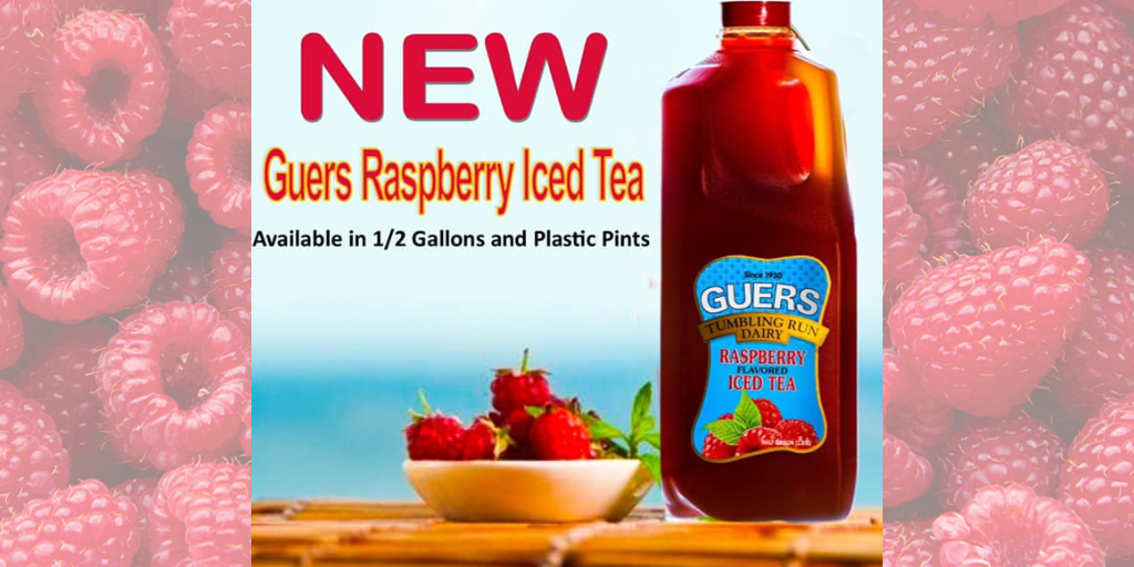 😲 Guers Dairy Announces New Raspberry Iced Tea Coming Soon 😲