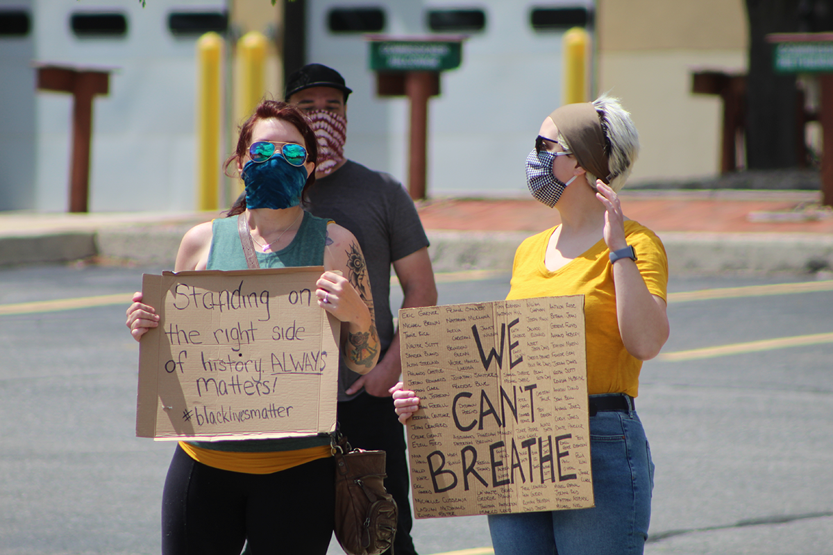 schuylkill county courthouse protest george floyd we cant breathe