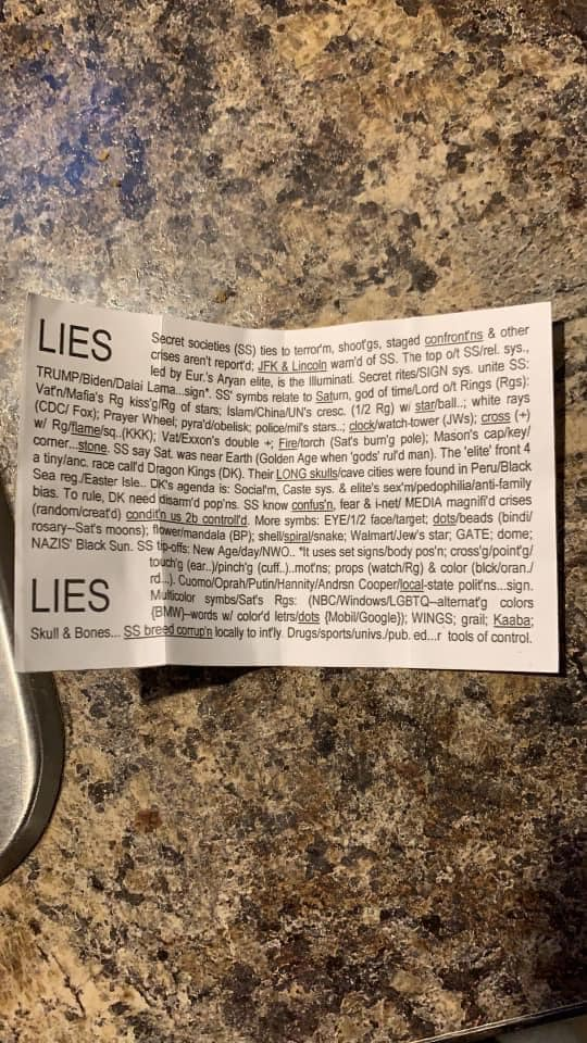 cult message in food packages