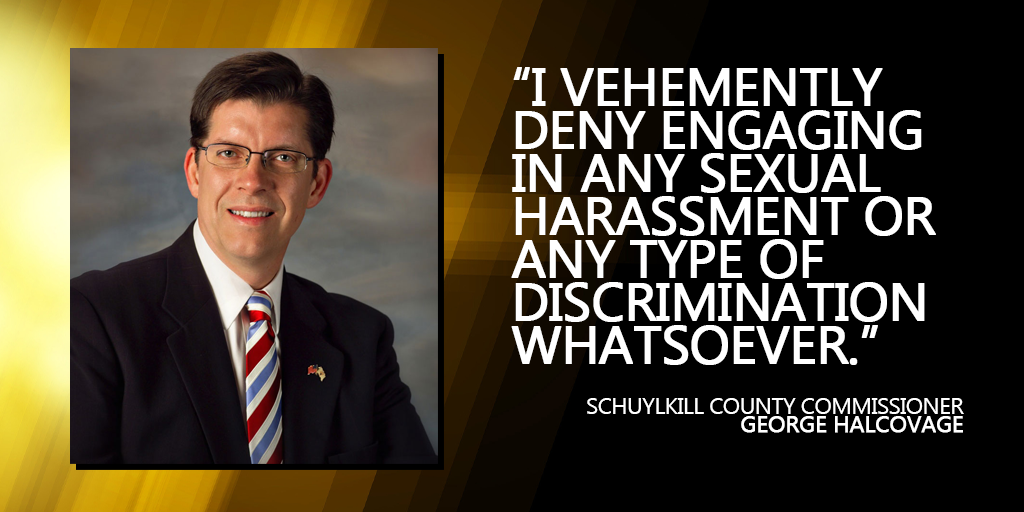 Schuylkill Commissioner Halcovage Vehemently Denies Sexual Harassment, Discrimination Allegations
