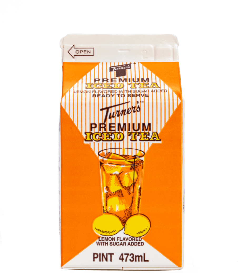 turners iced tea carton