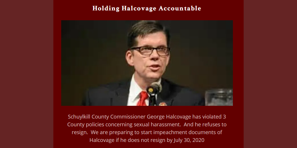 Local Activist Preps Impeachment Docs, Plans Protest to Force Halcovage Resignation