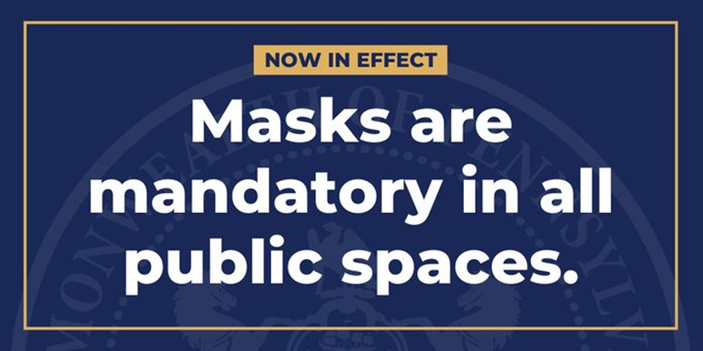 LATEST: Wolf Now Requires Masks in ALL Public Places