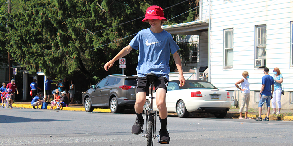 port carbon fourth of july 2020 unicycle