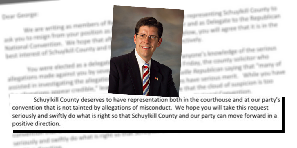 Schuylkill County Republican Committee Asks Halcovage to Resign as Commissioner, RNC Delegate
