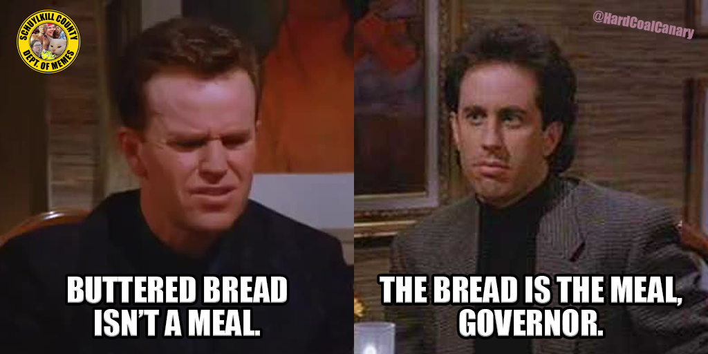 Who are the Governor and PLCB to Say What Constitutes a Meal?