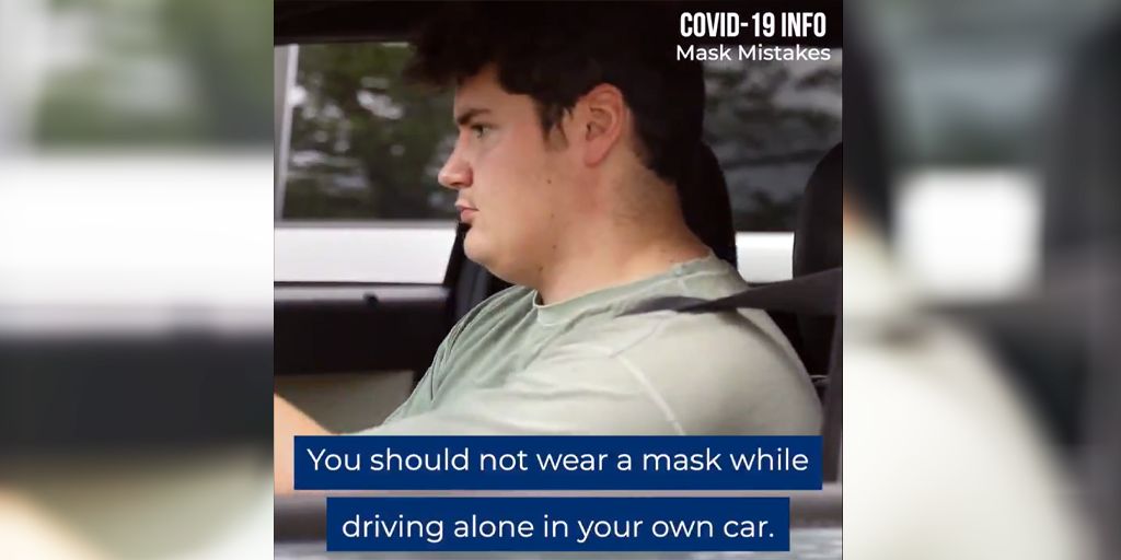 Stop Wearing Masks Alone in Your Car, State Says