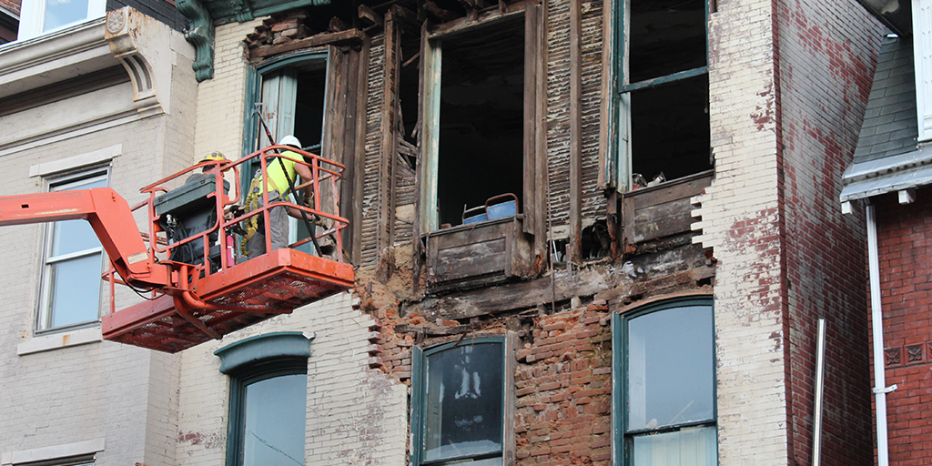 313 west market street collapse pottsville facade removal