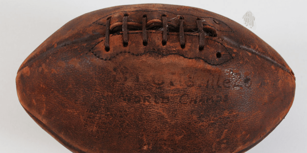Auction for Game Used Pottsville Maroons Ball from Notre Dame Game – Bid in for $5,000