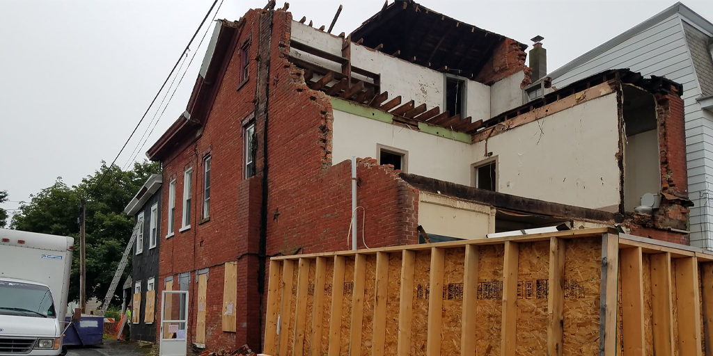 Demolition Continues on Condemned Orwigsburg Property