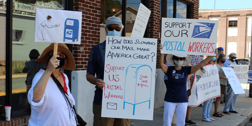 Schuylkill County Democrats Protest in Support of US Postal Service