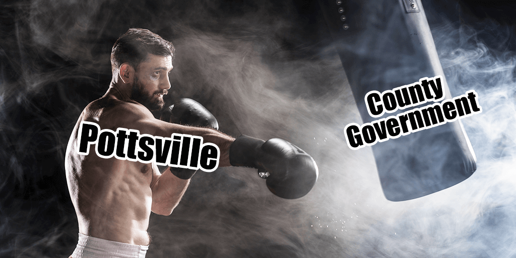 pottsville vs schuylkill county giant property