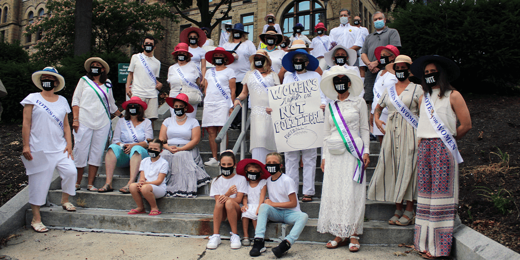 Schuylkill Indivisible Marks 100th Anniversary of Women's Suffrage